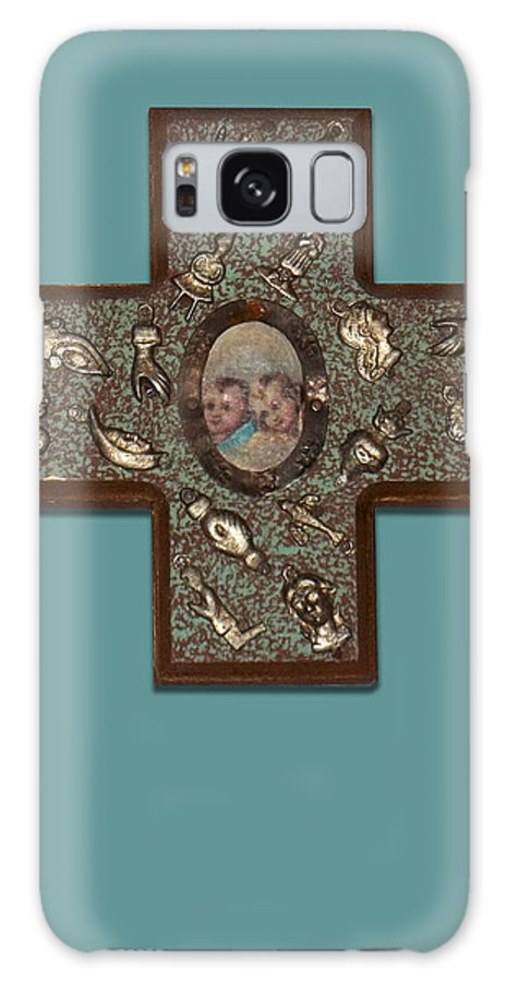 Cross Galaxy S8 Case featuring the photograph Milagro Cross by Anne Cameron Cutri