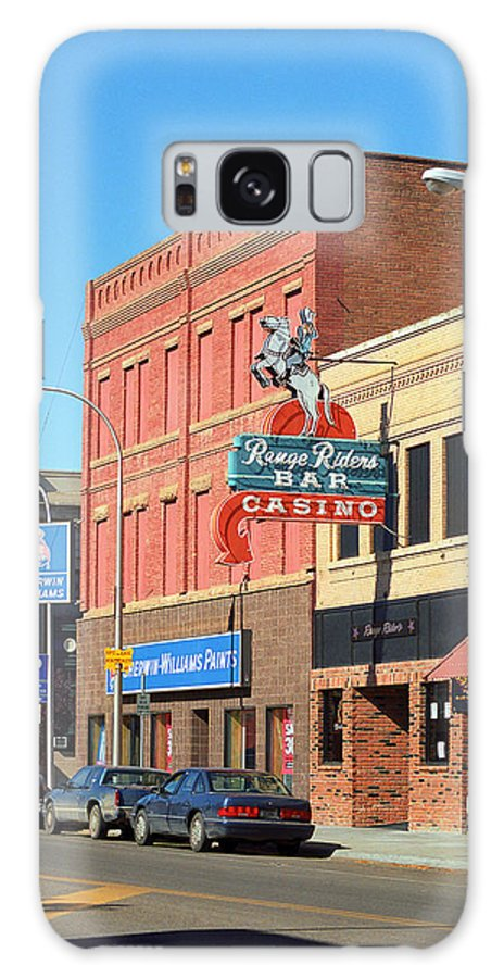 America Galaxy S8 Case featuring the photograph Miles City, Montana - Downtown Casino 2 by Frank Romeo