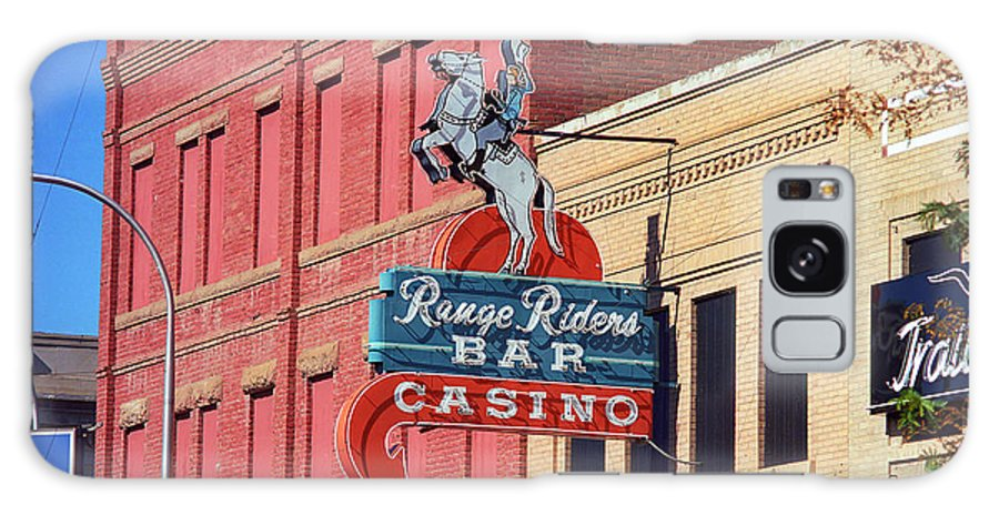 America Galaxy S8 Case featuring the photograph Miles City, Montana - Downtown Casino by Frank Romeo