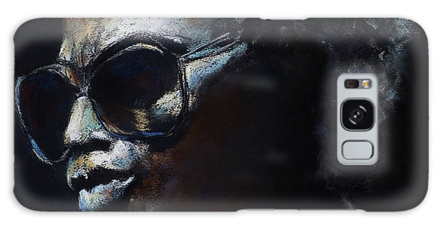 Miles Davis Galaxy S8 Case featuring the painting Miles Davis by Frances Marino