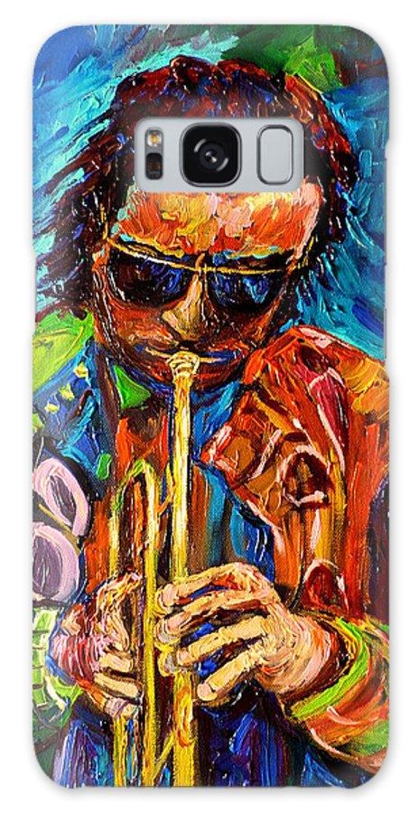 Miles Davis Jazz Galaxy S8 Case featuring the painting Miles Davis Jazz by Carole Spandau