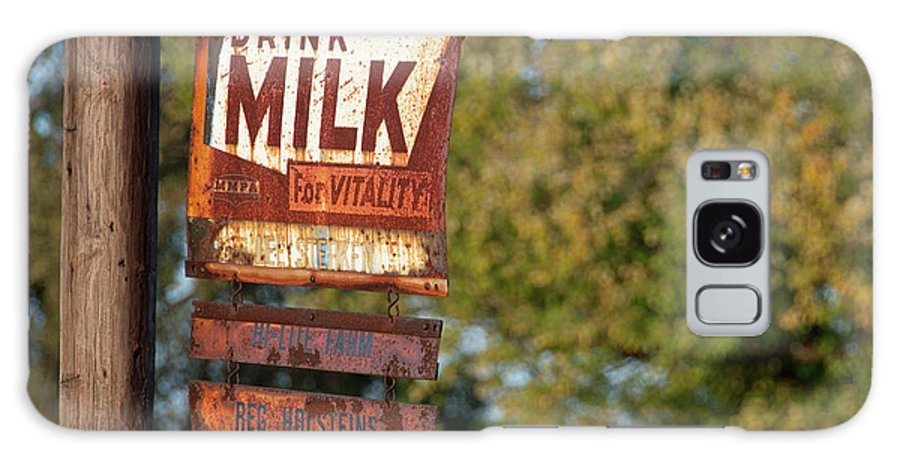 Milk Galaxy S8 Case featuring the photograph Milk Sign by David Arment