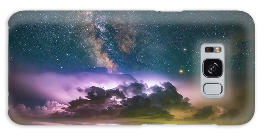 Milky Way Galaxy S8 Case featuring the photograph Milky Way Monsoon by Darren White