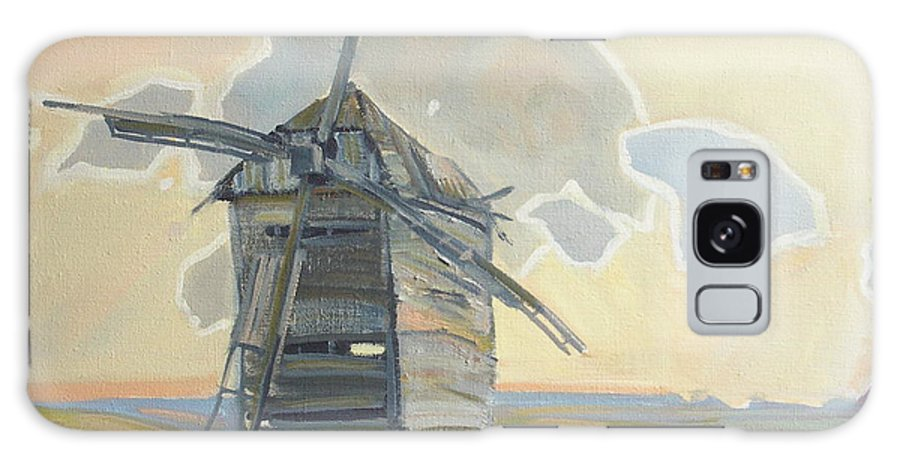 Oil Galaxy S8 Case featuring the painting Mill by Sergey Ignatenko