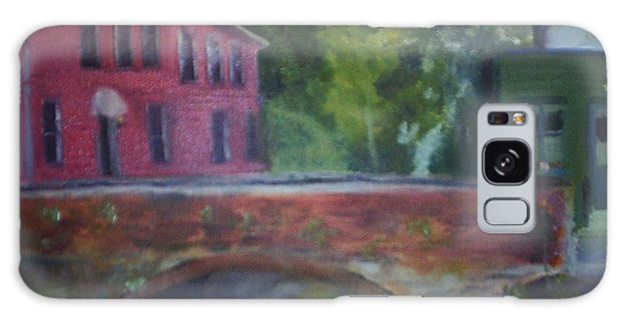 Mill Street Galaxy S8 Case featuring the painting Mill Street Plein Aire by Sheila Mashaw