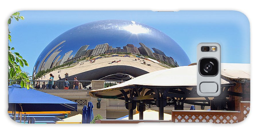 Chicago Galaxy S8 Case featuring the photograph Millenium Park - Slice Of Chicago by Suzanne Gaff