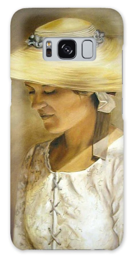 Portrait Galaxy Case featuring the painting Milliners Daughter by Anne Kushnick