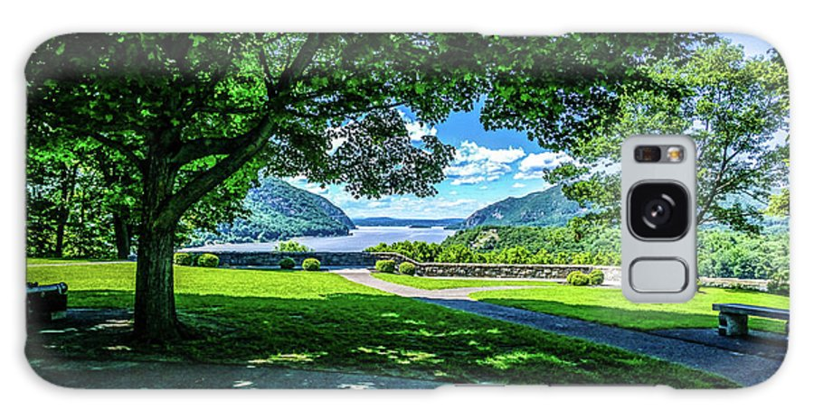 This Is The Expanded View From The West Point Military Academy Looking Up The Hudson River In West Point New York. Galaxy S8 Case featuring the photograph Million Dollar View From West Point Military Academy by William Rogers