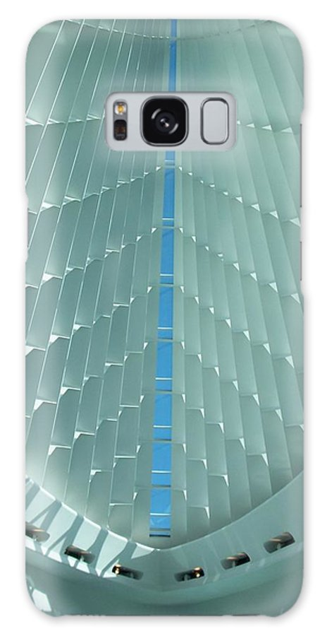 Mam Galaxy Case featuring the photograph Milwaukee Art Museum Interior by Anita Burgermeister