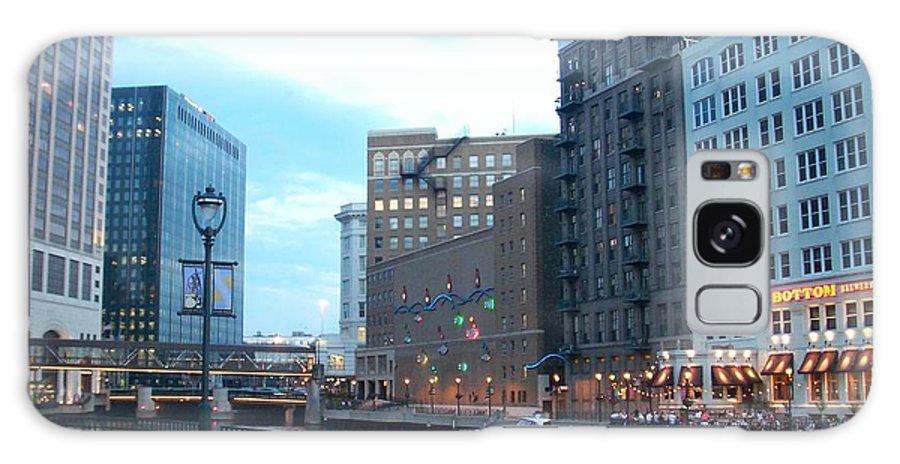 Milwaukee Galaxy Case featuring the photograph Milwaukee River Walk by Anita Burgermeister
