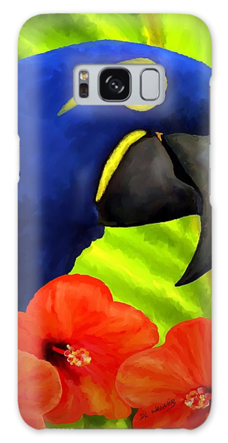 Hyacinth Macaw Galaxy Case featuring the painting Mimi by David Wagner