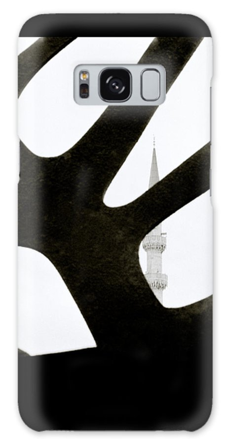 Abstract Galaxy S8 Case featuring the photograph Minaret And Art by Shaun Higson