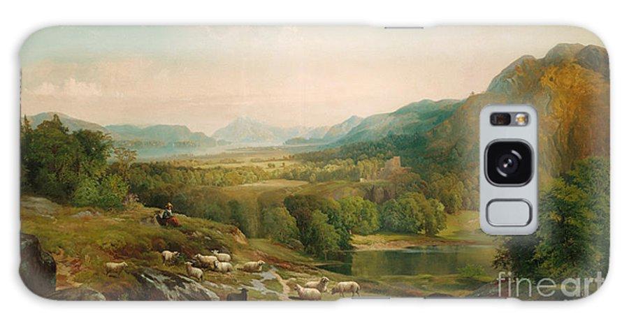 Thomas Moran Galaxy Case featuring the painting Minding the Flock by Thomas Moran