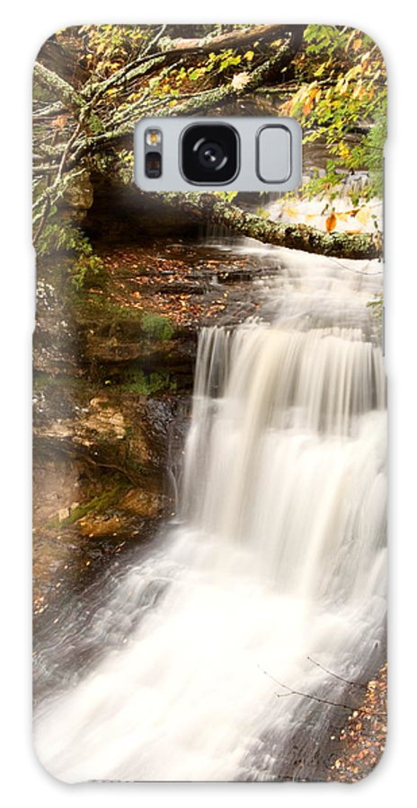 Landscape Galaxy S8 Case featuring the photograph Miner Falls During Autumn by Amanda Kiplinger