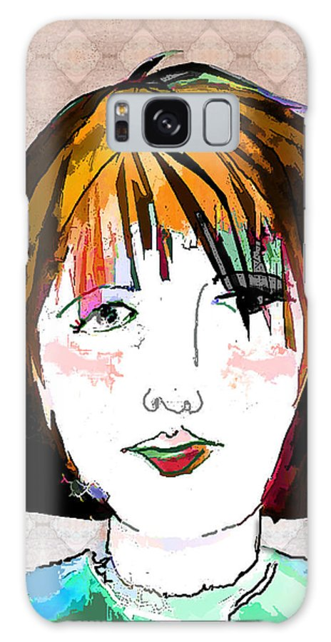 Woman Galaxy S8 Case featuring the digital art Minimal Makeup by Arline Wagner