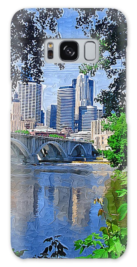 Minneapolis Galaxy S8 Case featuring the photograph Minneapolis Through The Trees by Tom Reynen