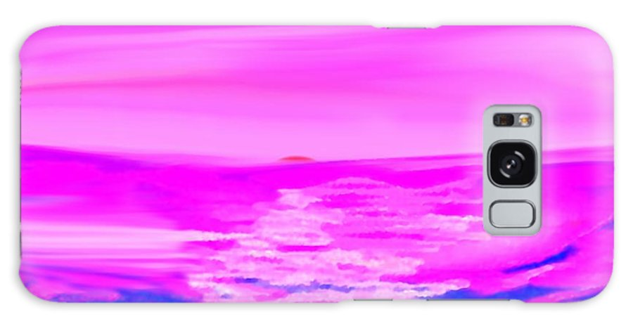 Sunset Galaxy Case featuring the digital art Miracle Sunset-sun And Sky In One Dance by Dr Loifer Vladimir