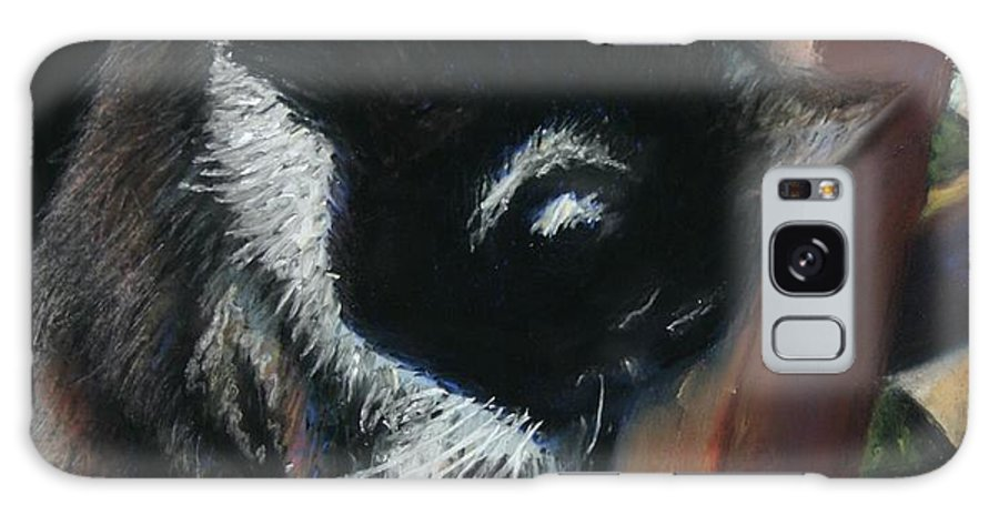 Cat Galaxy Case featuring the painting Kitty Chair by Minaz Jantz