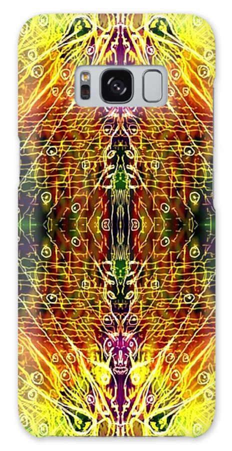 Mirror Galaxy S8 Case featuring the digital art Mirrored Inferno by Michael African Visions