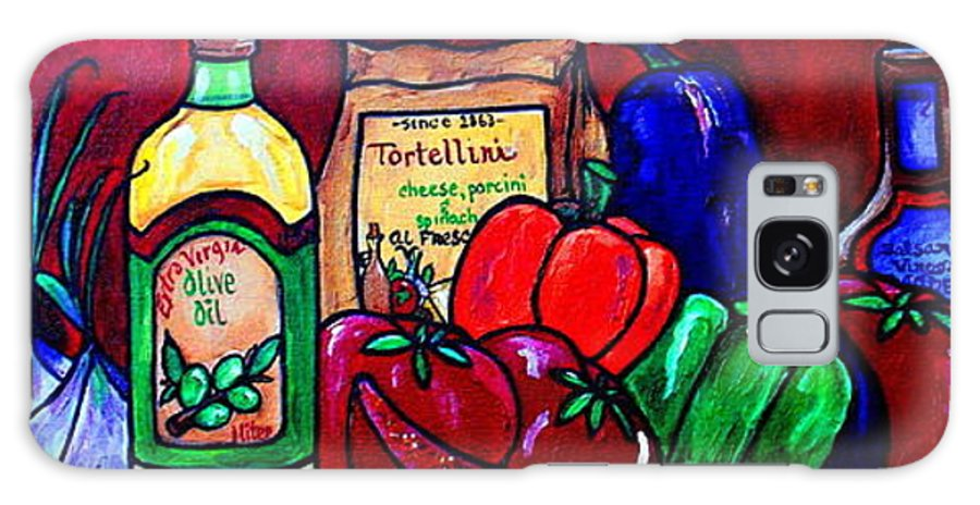 Italian Still Life Galaxy S8 Case featuring the painting Mis En Place by Patti Schermerhorn