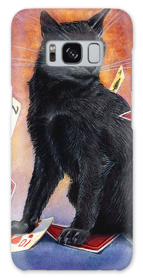 Cat Galaxy S8 Case featuring the painting Mischief Kitten by Melissa A Benson