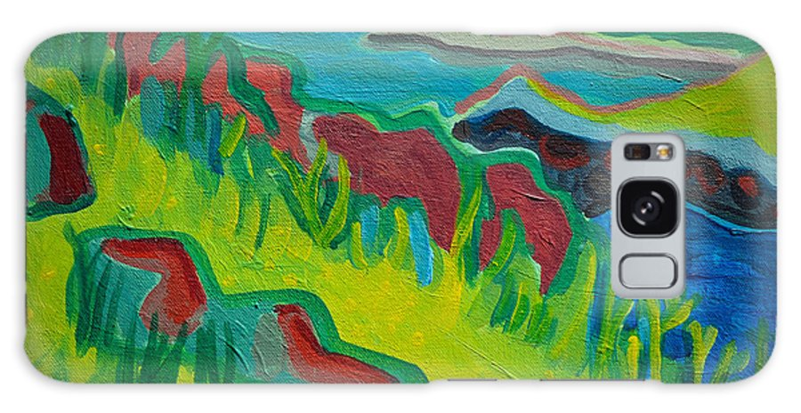 Misery Island Galaxy Case featuring the painting Misery Island by Debra Bretton Robinson