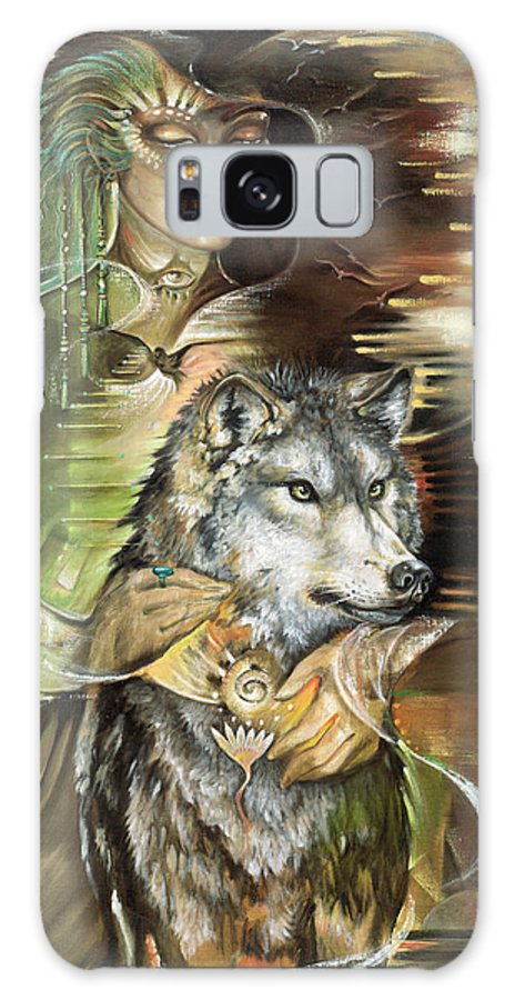 Animals Galaxy S8 Case featuring the painting Missing You Susan Boulet by Blaze Warrender