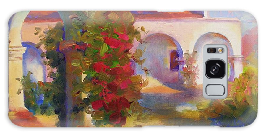 Galaxy S8 Case featuring the painting Mission Capistrano by Maryanne Jacobsen