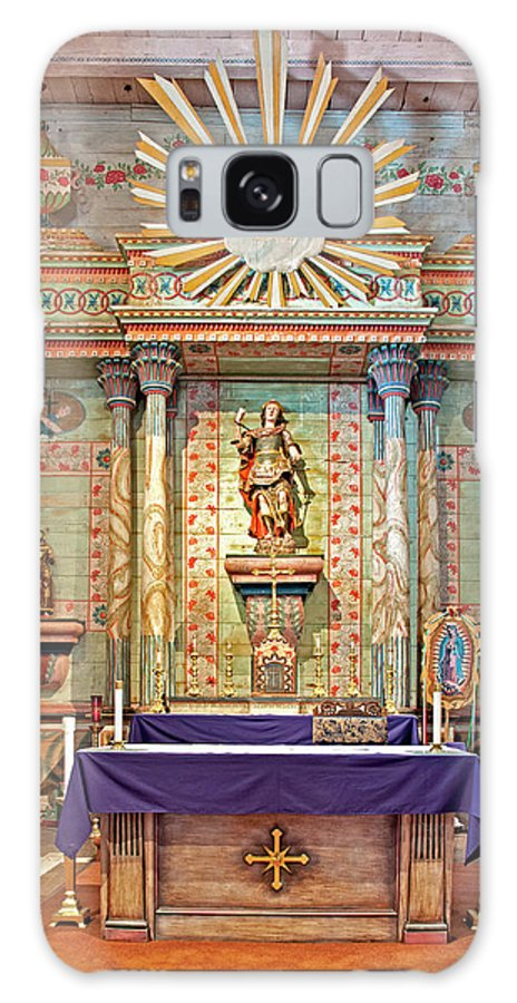 California Mission Galaxy S8 Case featuring the photograph Mission San Miguel Arcangel Altar, San Miguel, California by Denise Strahm
