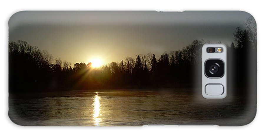 Mississippi River Galaxy S8 Case featuring the photograph Mississippi River Golden Sunrise by Kent Lorentzen