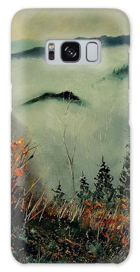 Landscape Galaxy S8 Case featuring the painting Mist Today by Pol Ledent