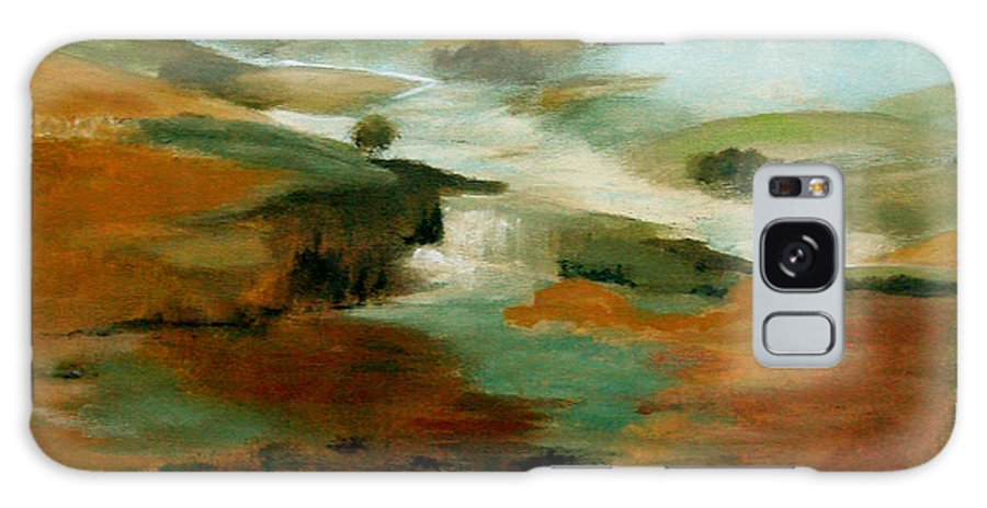 Abstract Galaxy Case featuring the painting Misty Hills by Ruth Palmer