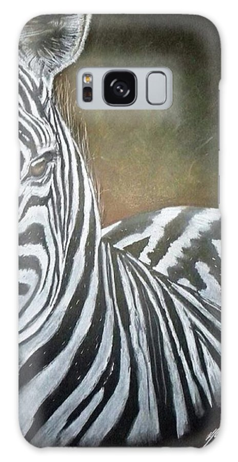 Zebra Galaxy S8 Case featuring the drawing Misty Morning by Paul Murray