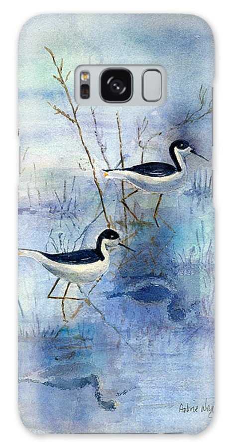 Bird Galaxy S8 Case featuring the painting Misty Swamp by Arline Wagner