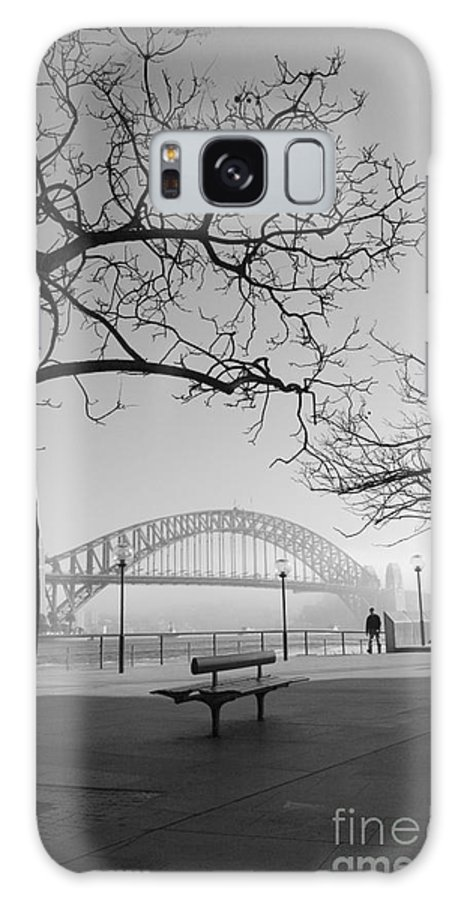 Sydney Harbour Bridge Mist Australia Galaxy Case featuring the photograph Misty Sydney Morning by Sheila Smart Fine Art Photography