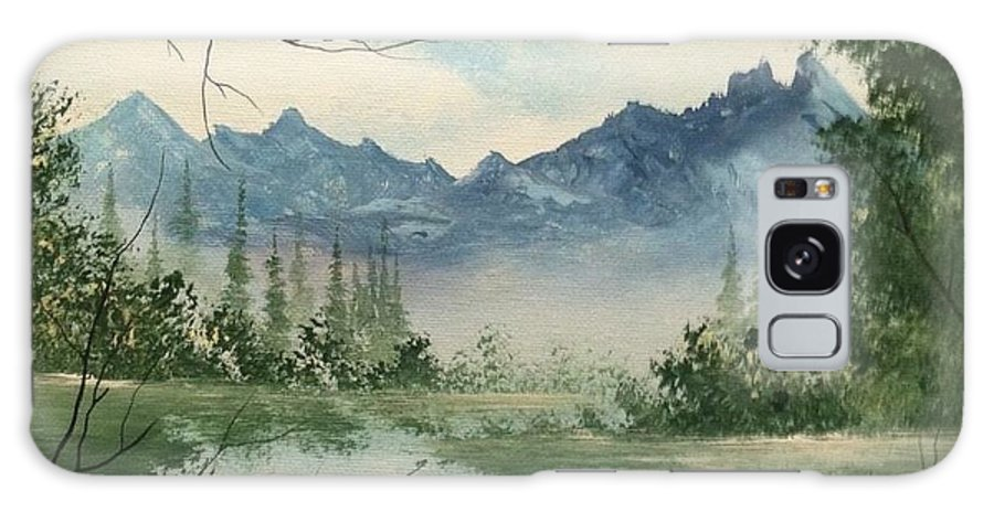 Mountain Galaxy S8 Case featuring the painting Misty View by Glen Mcclements