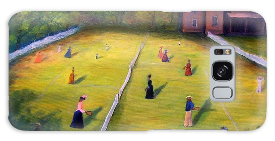 Tennis Art Galaxy S8 Case featuring the painting Mixed Doubles by Gail Kirtz