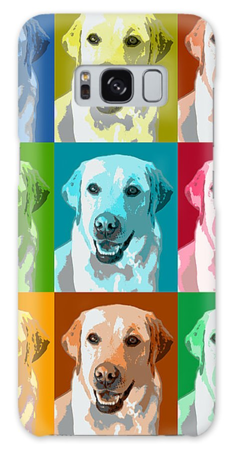 Americana Galaxy S8 Case featuring the photograph Golden Retriever Warhol by Marilyn Hunt