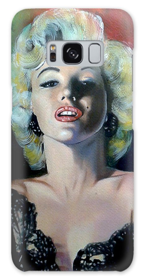 M Monroe Galaxy Case featuring the painting M.Monroe 3 by Jose Manuel Abraham