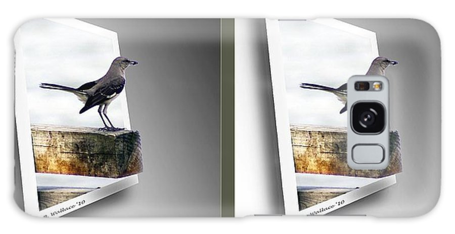 3d Galaxy S8 Case featuring the photograph Mockingbird - Gently Cross Your Eyes And Focus On The Middle Image by Brian Wallace