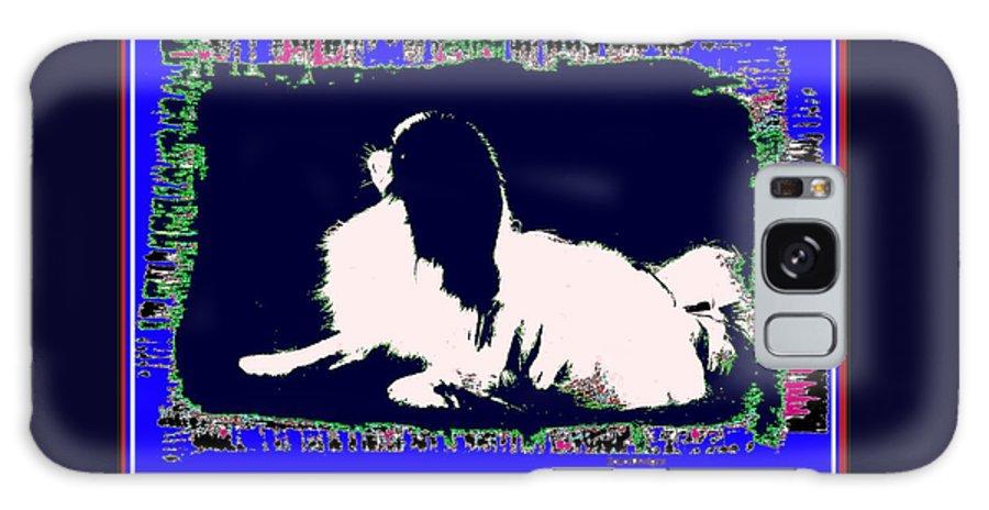 Mod Dog Galaxy Case featuring the digital art Mod Dog by Kathleen Sepulveda