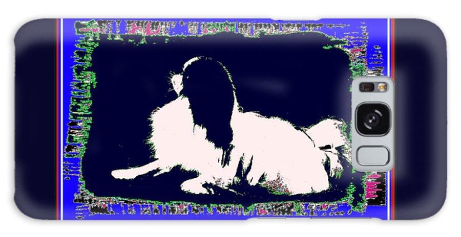 Mod Dog Galaxy S8 Case featuring the digital art Mod Dog by Kathleen Sepulveda