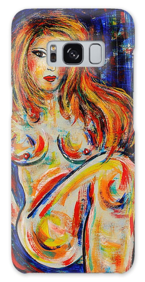 Expressionism Galaxy S8 Case featuring the painting Model by Natalie Holland