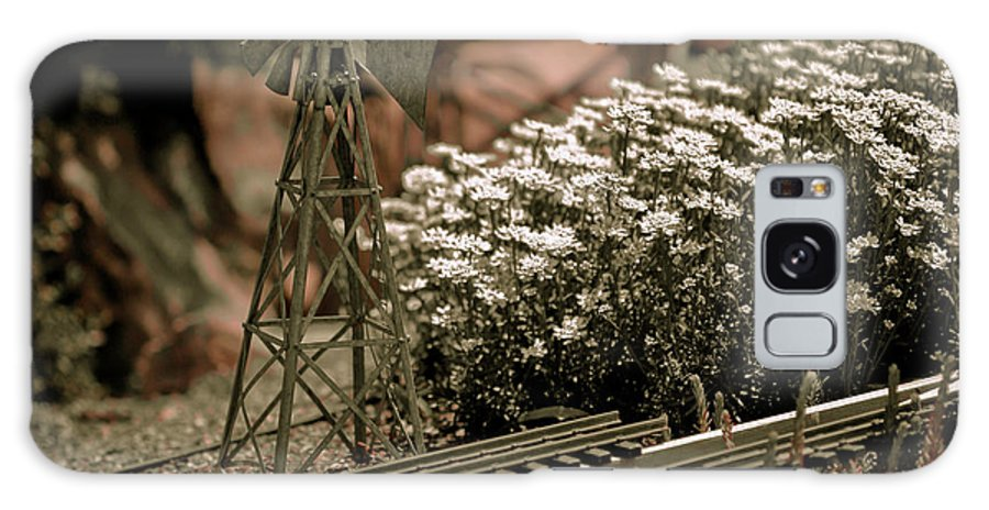 Train Galaxy S8 Case featuring the photograph Model Railroad Windmill by Marilyn Hunt