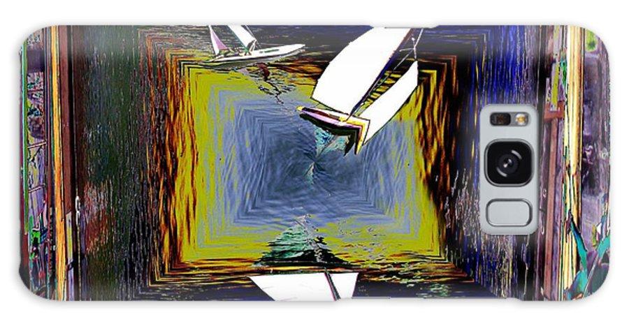 Sail Galaxy S8 Case featuring the digital art Model Sailboats by Tim Allen