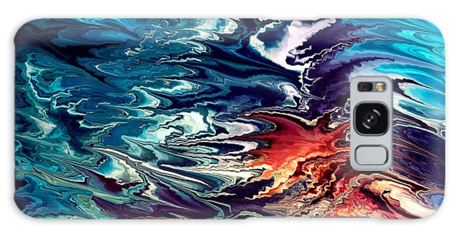 Contemporary Galaxy S8 Case featuring the painting Modern Composition 32 by Rafi Talby