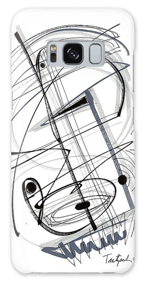 Modern Drawing Galaxy S8 Case featuring the drawing Modern Drawing Thirty-eight by Lynne Taetzsch
