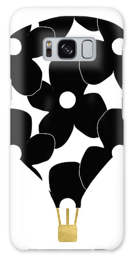 Hot Air Balloon Galaxy S8 Case featuring the digital art Modern Floral Hot Air Balloon- Art By Linda Woods by Linda Woods