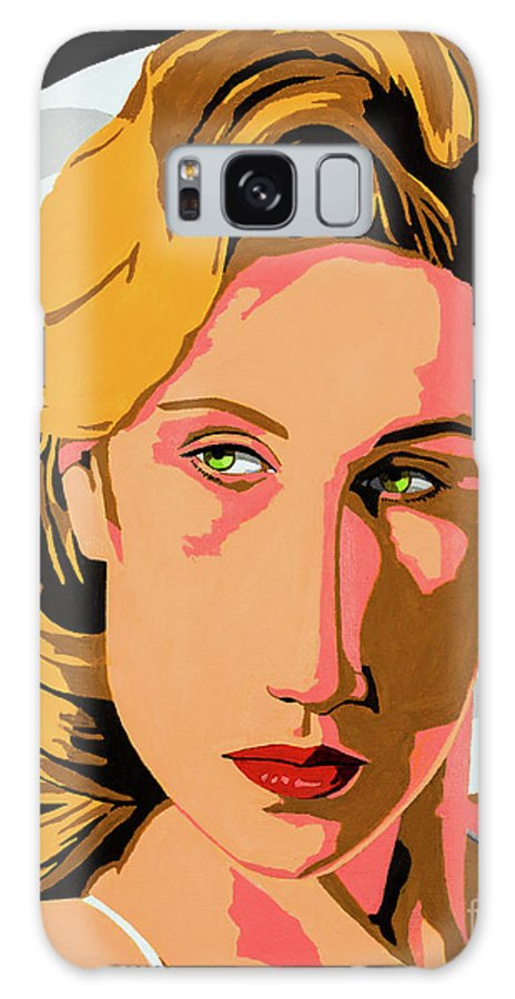 Modigliani Galaxy S8 Case featuring the painting Modigliani Modern 2 by Joe Ciccarone