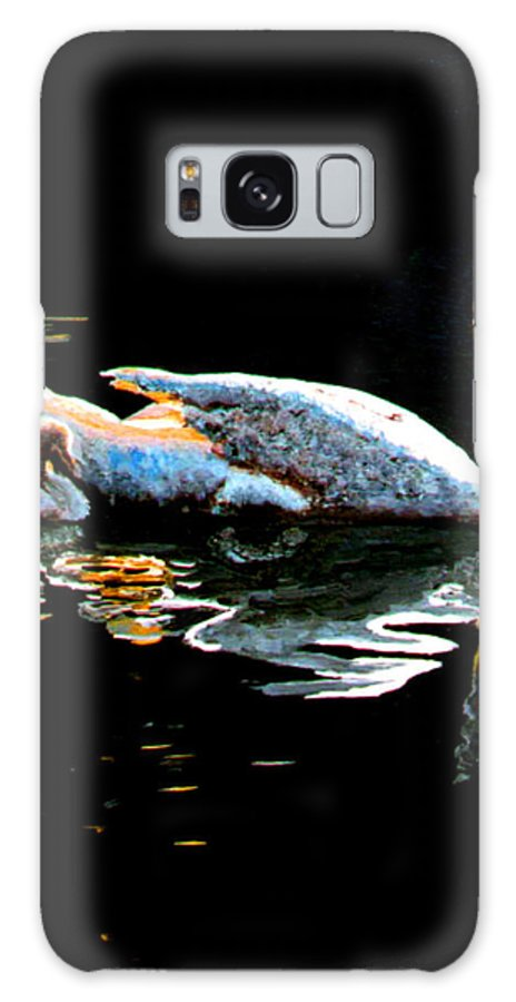 Swan Galaxy Case featuring the painting Mom And Baby Swan by Stan Hamilton